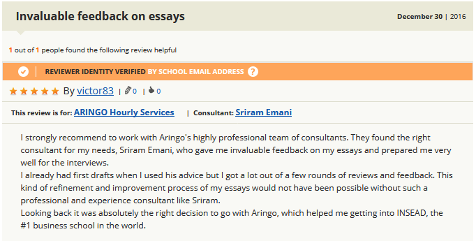 ARINGO Reviews on GMAT Club