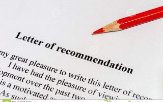 Letter of Recommendation